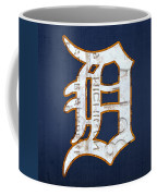 Detroit Tigers Baseball Old English D Logo License Plate Art Coffee Mug