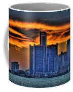 Detroits Sky Coffee Mug by Nicholas  Grunas