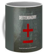 Deuteronomy Books Of The Bible Series Old Testament Minimal Poster Art Number 5 Coffee Mug by Design Turnpike
