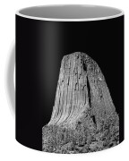 109851-bw-devil's Tower 2  Coffee Mug