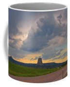 Devils Tower On The Horizon At Sunset Coffee Mug