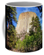 Devil's Tower Through The Trees Coffee Mug