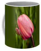 Dew Droplets On Pink Coffee Mug
