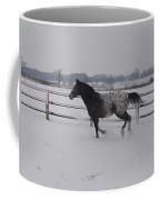 Diamond Appaloosa In The Snow Coffee Mug