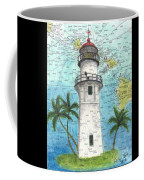 Diamond Head Lighthouse Hi Nautical Chart Map Art Coffee Mug