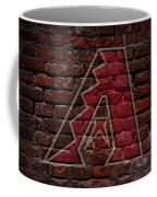 Diamondbacks Baseball Graffiti On Brick  Coffee Mug by Movie Poster Prints
