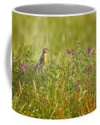Dickcissel And Flowers Coffee Mug