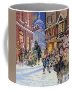 Dickensian Christmas Scene Coffee Mug by Angus McBride