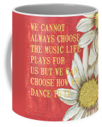 Dictionary Floral 1 Coffee Mug by Debbie DeWitt