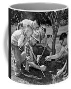 Digging Worms For Fishing Coffee Mug