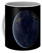 Digital Composite Of Earths City Lights Coffee Mug