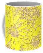 Digital Cone Flowers Drawing Coffee Mug
