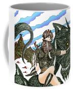 Digital Dragon Rider Colour Version Coffee Mug