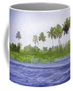 Digital Oil Painting - Water Rippling In The Coastal Lagoon Coffee Mug