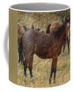 Digital Oil Painting Horses Coffee Mug