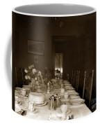 Dining Room Table Circa 1900 Coffee Mug