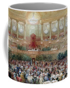 Dinner In The Salle Des Spectacles At Versailles Coffee Mug