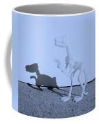 Dino Cyan Coffee Mug