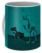 Dino Dark Turquoise Coffee Mug