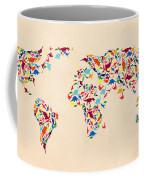 Dinosaur Map Of The World  Coffee Mug