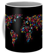 Dinosaurs Map Of The World   Coffee Mug by Mark Ashkenazi