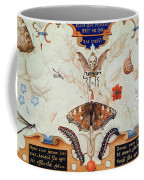 Diptych With Flowers And Insects Coffee Mug