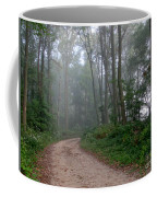 Dirt Path In Forest Woods With Mist Coffee Mug