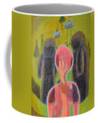 Disappearance Of The Woman And Her Own Two Stone Children With Clouds On Wheels Coffee Mug