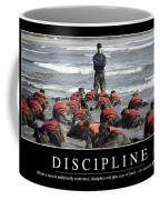 Discipline Inspirational Quote Coffee Mug