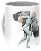 Discus Thrower Angel Coffee Mug