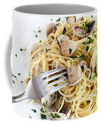 Dish Of Spaghetti With Clams Coffee Mug