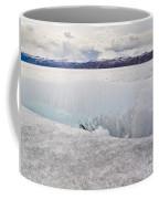 Disintegrating Candelized Melting Ice On Lake Shore Coffee Mug