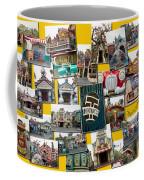 Disneyland Toontown Yellow Collage Coffee Mug