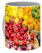 Display Of Fresh Vegetables At The Market Coffee Mug