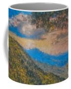 Distant Mountains - Digital Impression Paint Coffee Mug