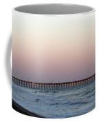 Distant Pier Sunset Coffee Mug