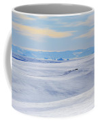 Distant View Of A Musk Ox And Snow Coffee Mug