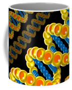 Dna Strand - Dna Strands Art - Genetics Genetic - Gene Genes - Conceptual - Square Format Image Coffee Mug