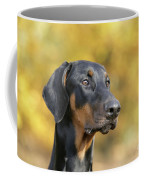 Dobermann Dog, In Autumn Coffee Mug