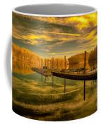 Dock Reflections-golden Coffee Mug