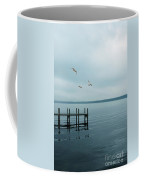 Dock On A Moody Lake Coffee Mug