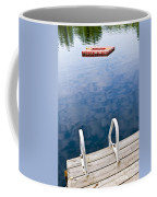 Dock On Calm Lake In Cottage Country Coffee Mug by Elena Elisseeva
