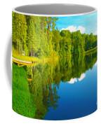 Dock On Mountain Lake Coffee Mug