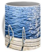 Dock On Summer Lake With Sparkling Water Coffee Mug