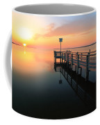Dock On The Sunset Sound Coffee Mug