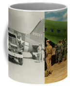 Doctor - 1942 - Delivering Blood - Side Coffee Mug by Mike Savad