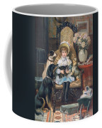 Doddy And Her Pets Coffee Mug by Charles Trevor Grand