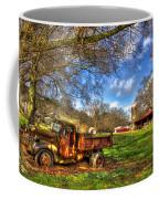 Dodge Dump Truck Farm Barn Scene Coffee Mug