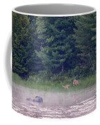Doe And Fawn In The Early Morning Coffee Mug
