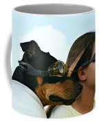 Dog Is My Co-pilot Coffee Mug by Laura Fasulo